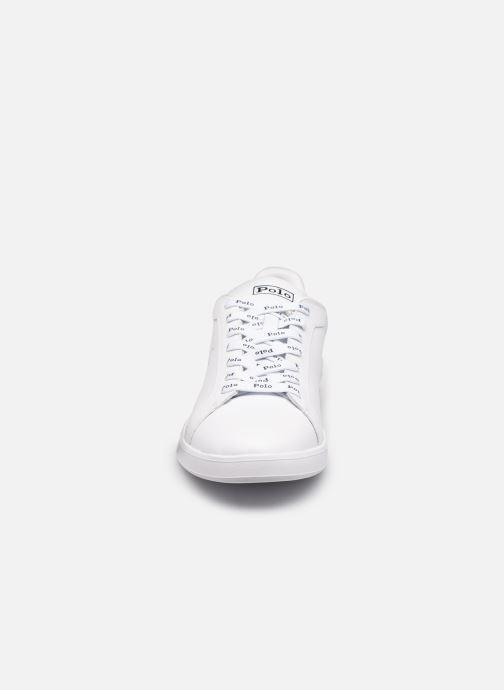 Sneakers Polo Ralph Lauren HRT Ct II Nappa Leather Bianco modello indossato