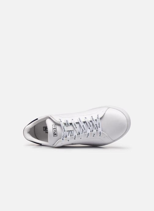 Sneakers Polo Ralph Lauren HRT Ct II Nappa Leather Bianco immagine sinistra