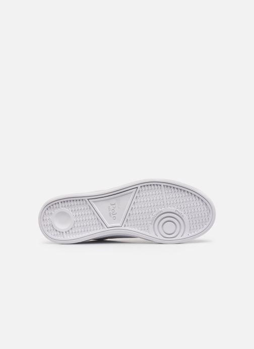 Sneakers Polo Ralph Lauren HRT Ct II Nappa Leather Bianco immagine dall'alto