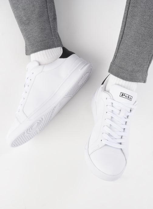 Sneakers Polo Ralph Lauren HRT Ct II Nappa Leather M Bianco immagine dal basso