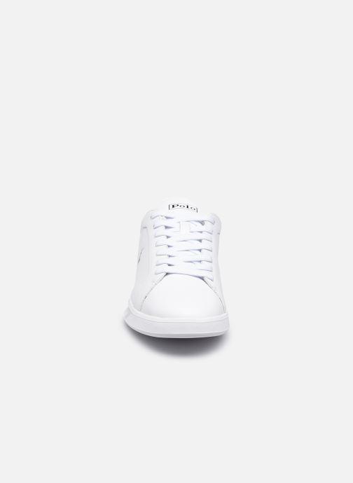 Sneakers Polo Ralph Lauren HRT Ct II Nappa Leather M Bianco modello indossato