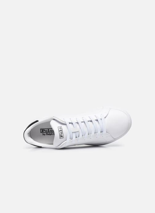 Sneakers Polo Ralph Lauren HRT Ct II Nappa Leather M Bianco immagine sinistra