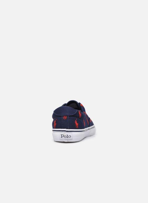 Sneaker Polo Ralph Lauren THORTON PP PRINTED RECYCLED CANVAS blau ansicht von rechts