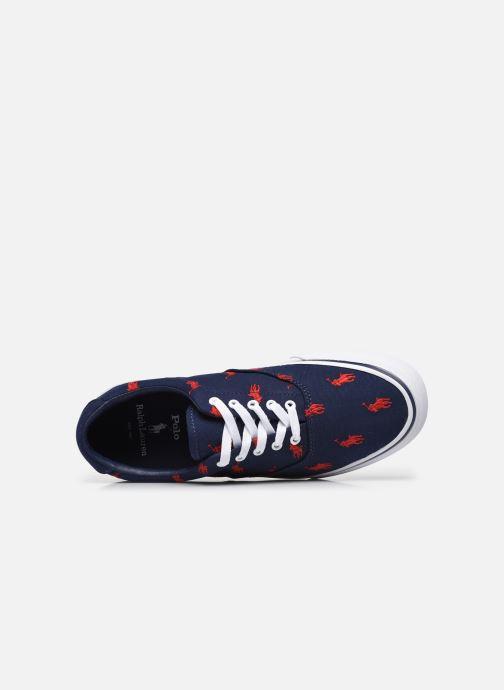 Sneaker Polo Ralph Lauren THORTON PP PRINTED RECYCLED CANVAS blau ansicht von links