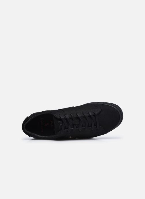 Baskets Polo Ralph Lauren SAYER CANVAS / MULTI PP Noir vue gauche