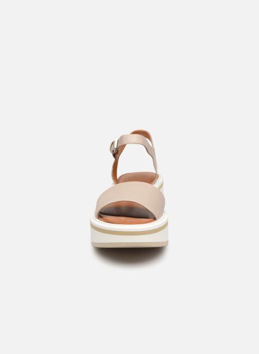 Sandales et nu-pieds Clergerie FIONA Gris vue portées chaussures