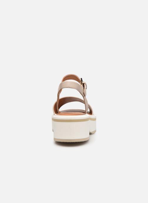Sandales et nu-pieds Clergerie FIONA Gris vue droite