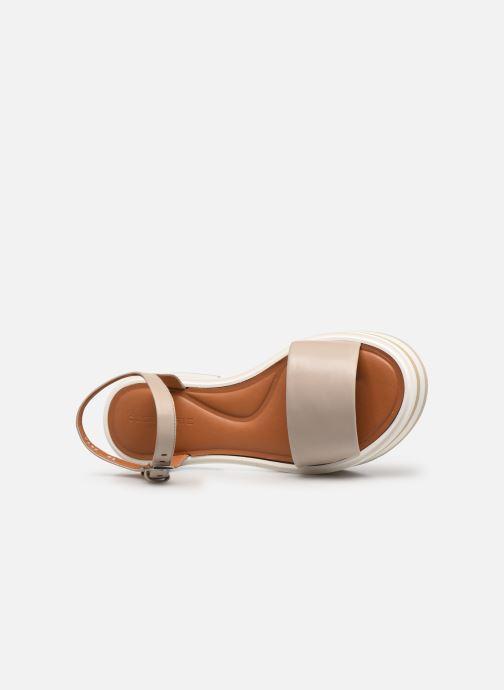 Sandales et nu-pieds Clergerie FIONA Gris vue gauche