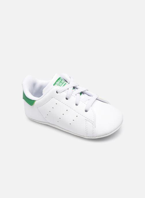 Hausschuhe adidas originals Stan Smith Crib eco-responsable weiß detaillierte ansicht/modell