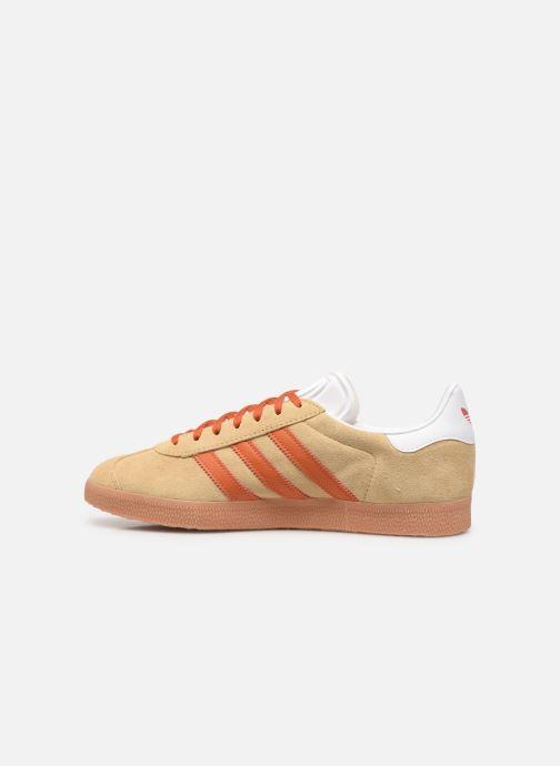 Sneaker adidas originals Gazelle M beige ansicht von vorne