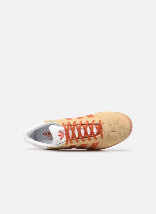 Sneaker adidas originals Gazelle M beige ansicht von links