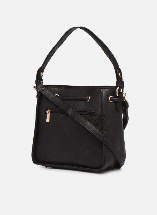 Handtaschen Hexagona ÉCLAT PORTÉ MAIN schwarz ansicht von rechts