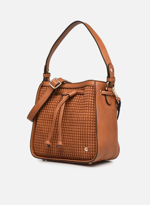Handtaschen Hexagona ÉCLAT PORTÉ MAIN braun schuhe getragen