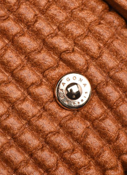 Handtaschen Hexagona ÉCLAT PORTÉ MAIN braun ansicht von links