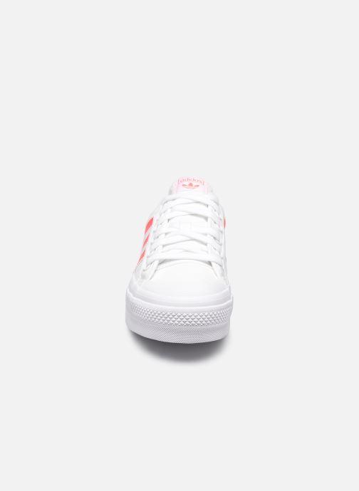 Sneaker adidas originals Nizza Platform W weiß schuhe getragen