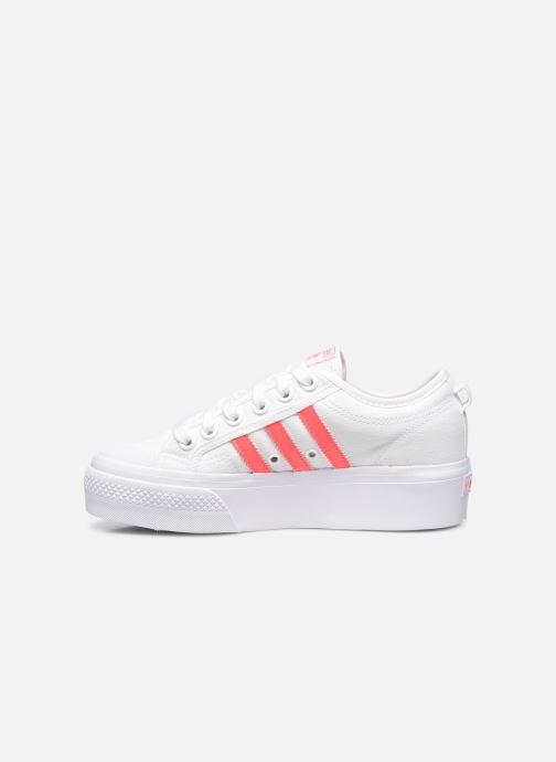 Sneaker adidas originals Nizza Platform W weiß ansicht von vorne