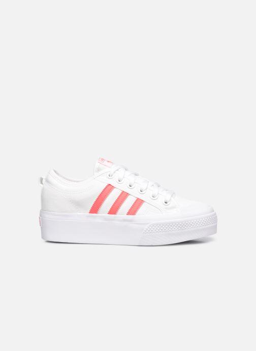 Sneaker adidas originals Nizza Platform W weiß ansicht von hinten