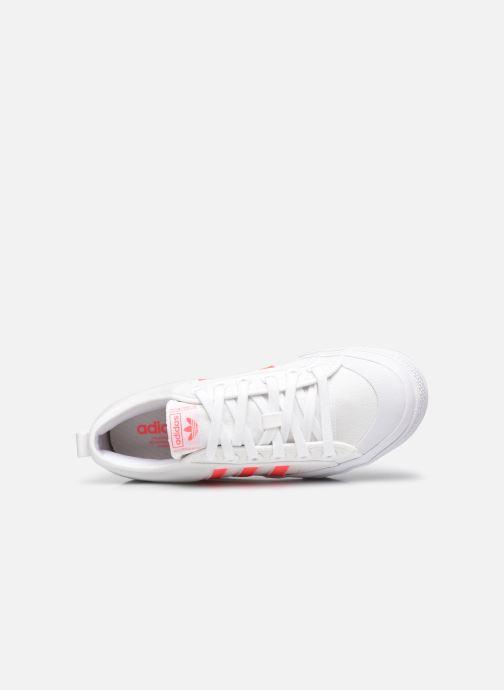 Sneaker adidas originals Nizza Platform W weiß ansicht von links