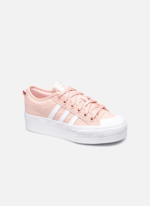 Baskets adidas originals Nizza Platform W Rose vue détail/paire