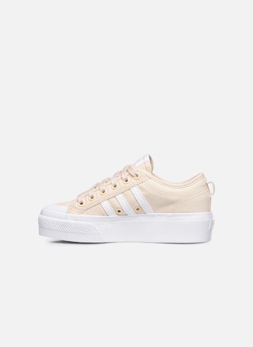 Sneaker adidas originals Nizza Platform W beige ansicht von vorne
