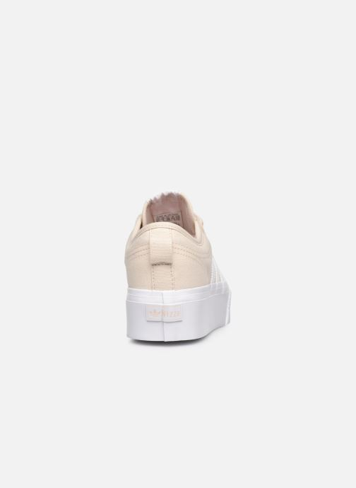 Sneaker adidas originals Nizza Platform W beige ansicht von rechts