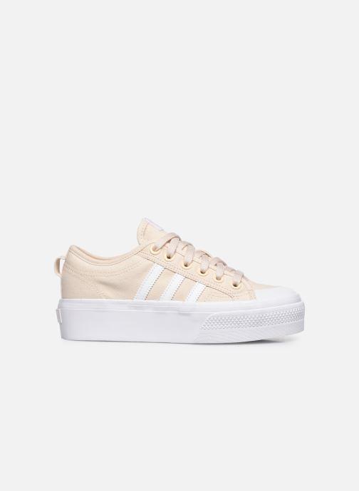 Sneaker adidas originals Nizza Platform W beige ansicht von hinten