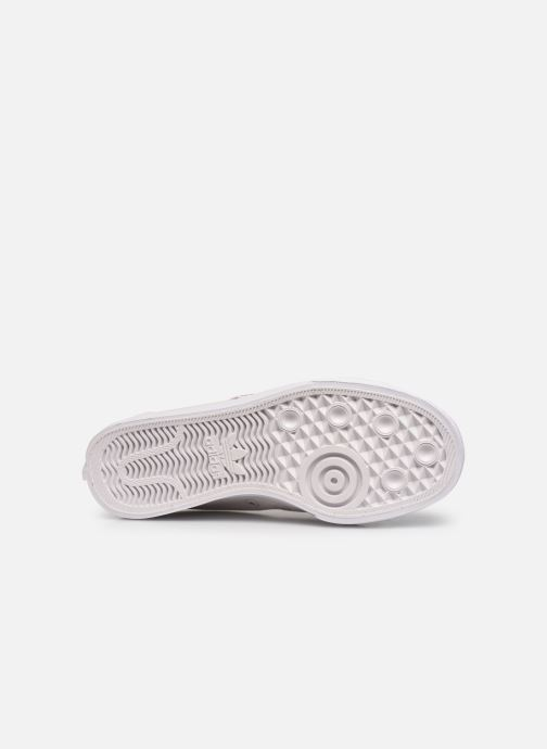 Baskets adidas originals Nizza  Trefoil W Blanc vue haut