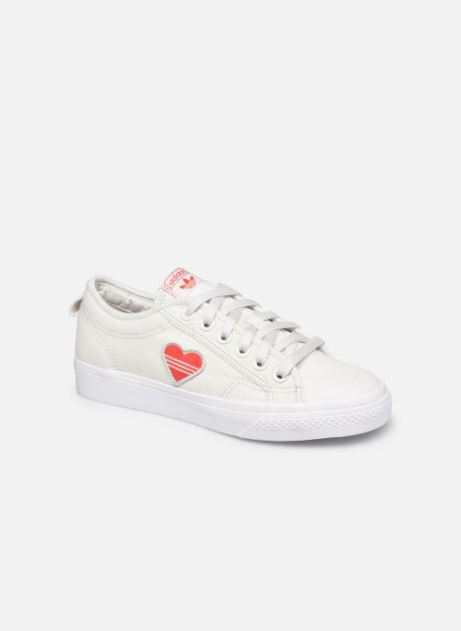 Baskets adidas originals Nizza  Trefoil W Blanc vue détail/paire