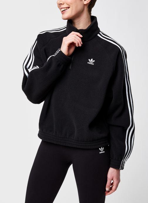 Vêtements adidas originals Fleece Hz Noir vue détail/paire