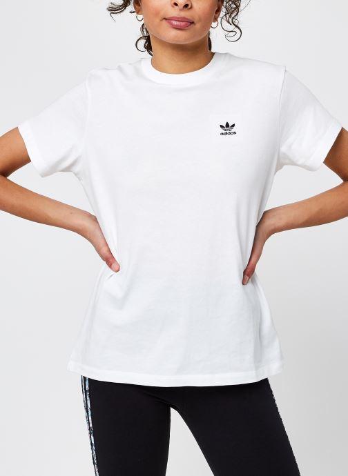 Vêtements adidas originals Loose Tee Blanc vue détail/paire