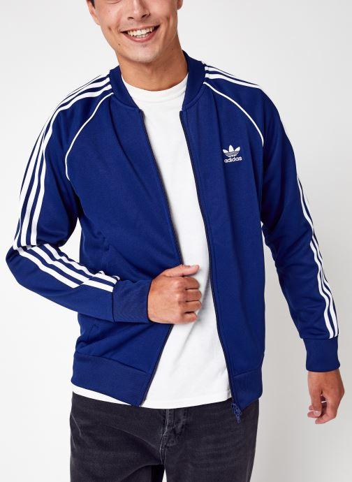 Vêtements adidas originals Sst Tt P Blue Bleu vue détail/paire