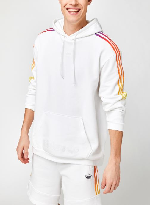 Vêtements adidas originals Sprt Sweat Hood Blanc vue détail/paire