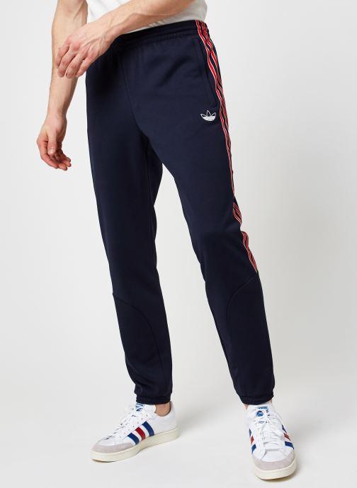Vêtements adidas originals Sprt Poly Tp Bleu vue détail/paire