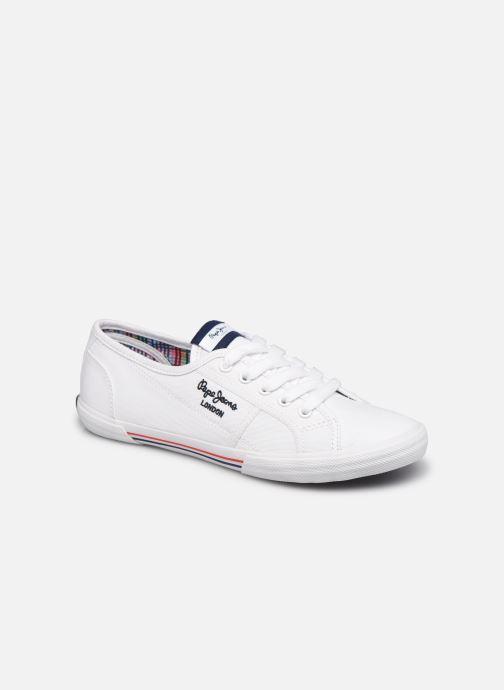 Baskets Pepe jeans ABERLADY ECOBASS Blanc vue détail/paire