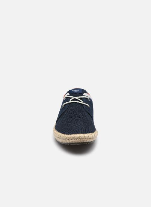 Espadrilles Pepe jeans TOURIST SAILOR KNIT Bleu vue portées chaussures
