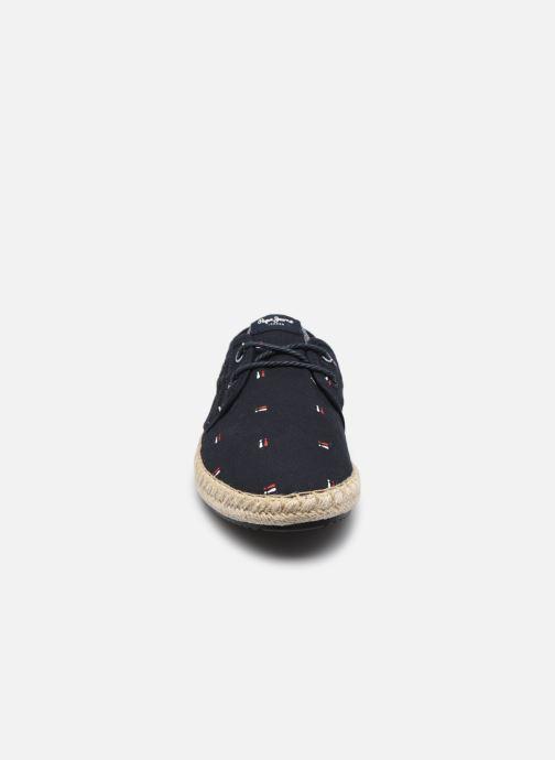 Espadrilles Pepe jeans TOURIST BRENNAN Bleu vue portées chaussures