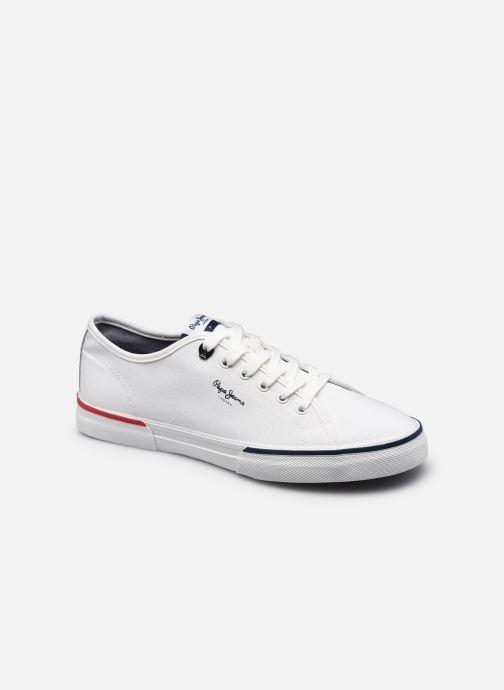 Baskets Pepe jeans KENTON SMART Blanc vue détail/paire