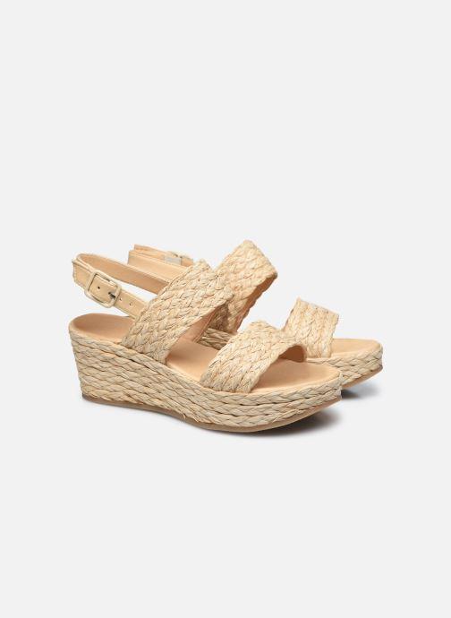 Sandalen Made by SARENZA Rustic Beach Sandales à talons #7 Beige achterkant