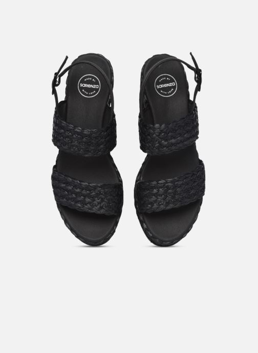 Sandali e scarpe aperte Made by SARENZA Rustic Beach Sandales à talons #7 Nero modello indossato
