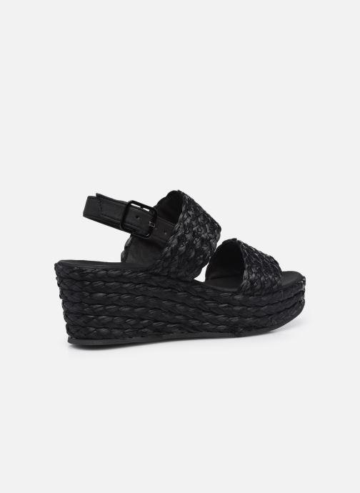 Sandali e scarpe aperte Made by SARENZA Rustic Beach Sandales à talons #7 Nero immagine frontale