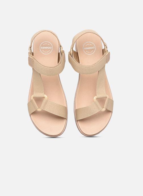 Sandalen Made by SARENZA Minimal Summer Sandales plates #1 beige schuhe getragen