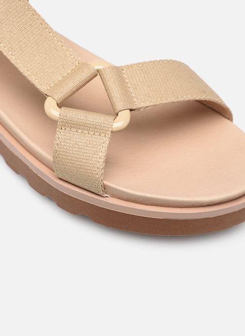 Sandalen Made by SARENZA Minimal Summer Sandales plates #1 beige ansicht von links