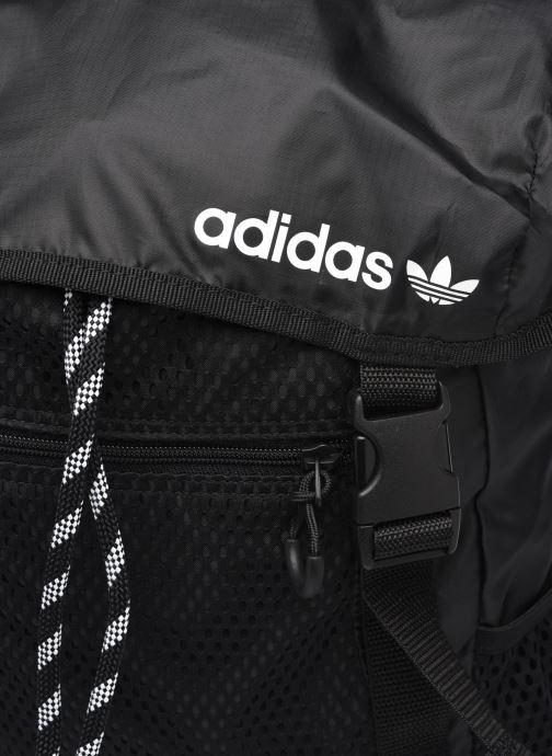 Rucksäcke adidas originals ADV TOPLOADER S schwarz ansicht von links