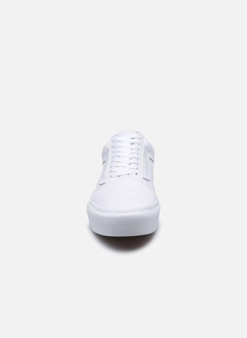 Baskets Vans Old Skool Platform M Blanc vue portées chaussures