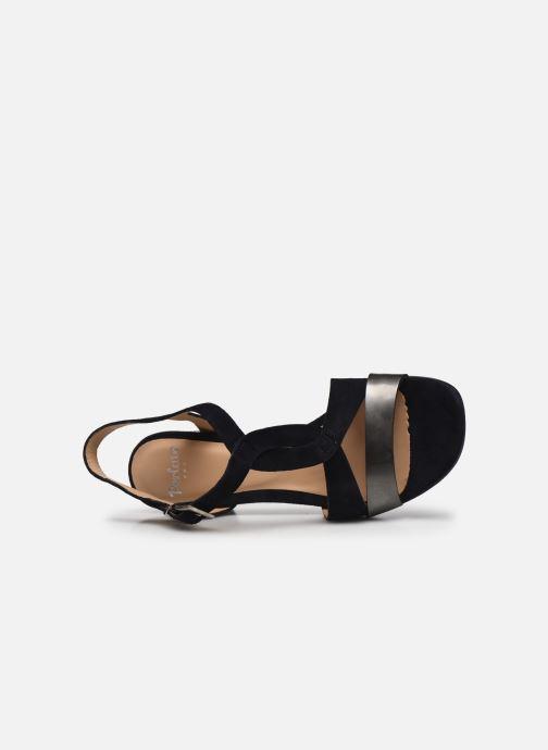 Sandalen Perlato 11804 Zwart links