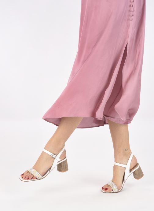 Sandales et nu-pieds Perlato 11806 Blanc vue bas / vue portée sac