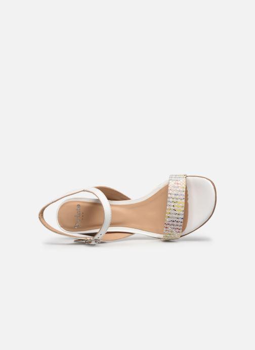Sandales et nu-pieds Perlato 11806 Blanc vue gauche