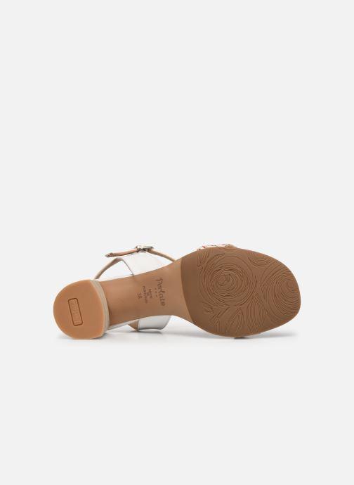 Sandales et nu-pieds Perlato 11806 Blanc vue haut