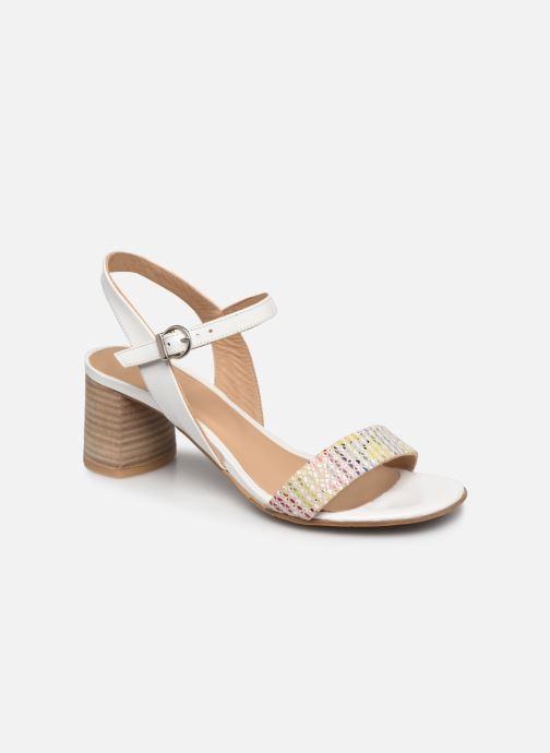 Sandales et nu-pieds Perlato 11806 Blanc vue détail/paire
