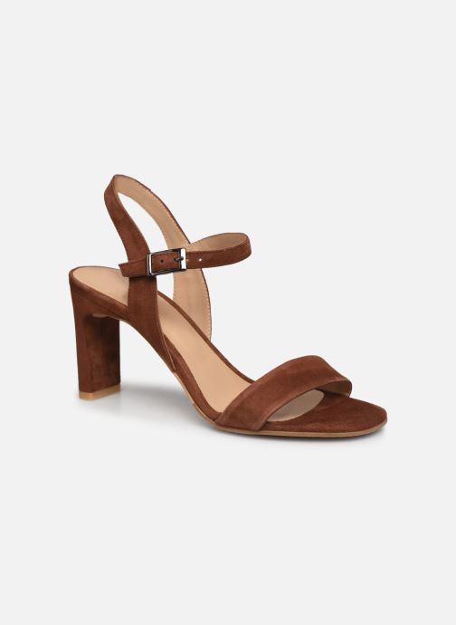 Sandales et nu-pieds Perlato 11797 Marron vue détail/paire